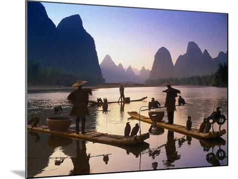 Cormorant, Fisherman, China-Peter Adams-Mounted Photographic Print