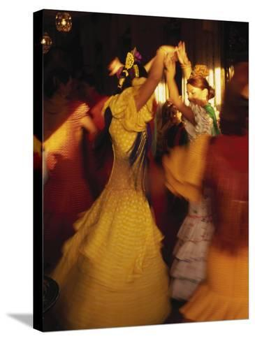 Flamenco Dancers, Spain-Peter Adams-Stretched Canvas Print