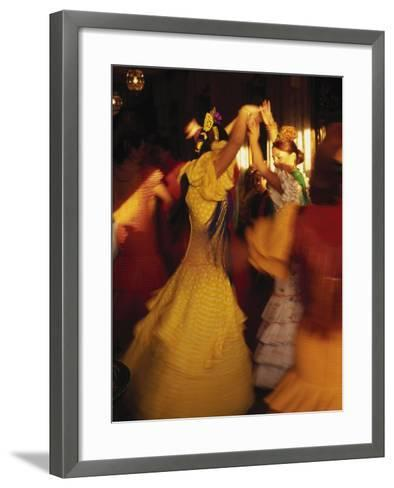 Flamenco Dancers, Spain-Peter Adams-Framed Art Print