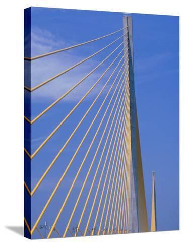 Sunshine Skyway Bridge, FL-Rick Poley-Stretched Canvas Print