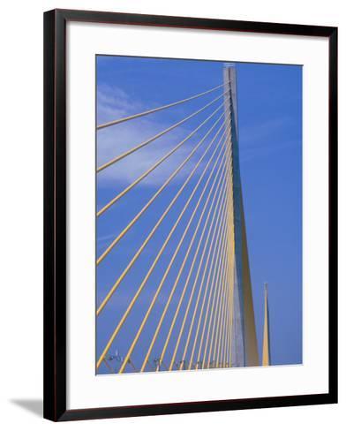 Sunshine Skyway Bridge, FL-Rick Poley-Framed Art Print