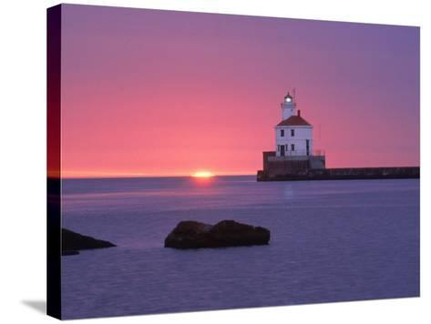 Wisconsin Point Lighthouse, WI-Ken Wardius-Stretched Canvas Print