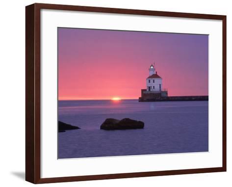 Wisconsin Point Lighthouse, WI-Ken Wardius-Framed Art Print