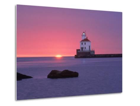 Wisconsin Point Lighthouse, WI-Ken Wardius-Metal Print