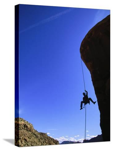 Rock Climbing, Canyonlands, UT-Greg Epperson-Stretched Canvas Print