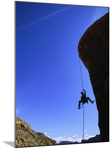 Rock Climbing, Canyonlands, UT-Greg Epperson-Mounted Photographic Print