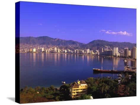 Acapulco Bay, Acapulco, Mexico-Walter Bibikow-Stretched Canvas Print