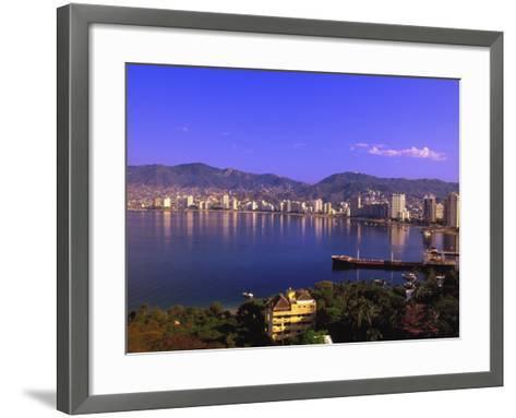 Acapulco Bay, Acapulco, Mexico-Walter Bibikow-Framed Art Print