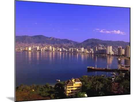 Acapulco Bay, Acapulco, Mexico-Walter Bibikow-Mounted Photographic Print