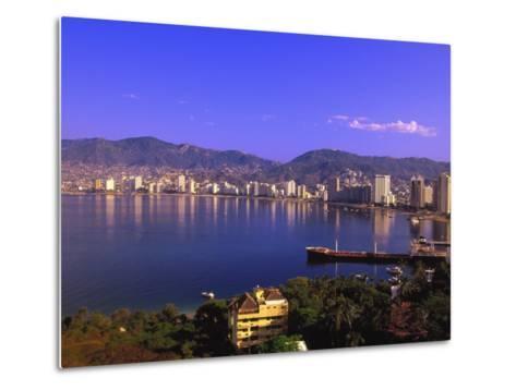 Acapulco Bay, Acapulco, Mexico-Walter Bibikow-Metal Print