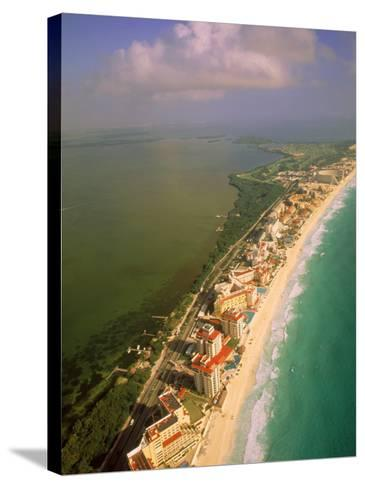 Aerial View of Cancun, Mexico-Walter Bibikow-Stretched Canvas Print