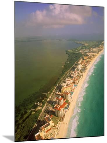 Aerial View of Cancun, Mexico-Walter Bibikow-Mounted Photographic Print