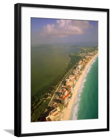 Aerial View of Cancun, Mexico-Walter Bibikow-Framed Art Print