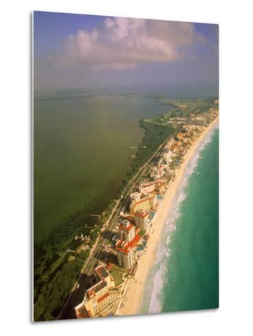 Aerial View of Cancun, Mexico-Walter Bibikow-Metal Print