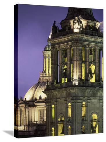 Cathedral Metropolitana, Mexico City, Mexico-Walter Bibikow-Stretched Canvas Print