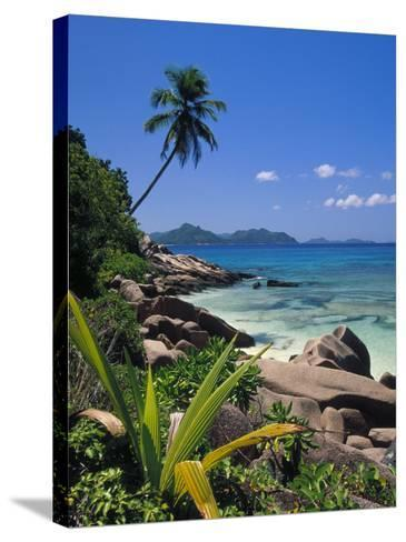 Tropical Beach, La Digue Island, Seychelles-Angelo Cavalli-Stretched Canvas Print