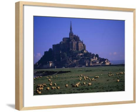 Morning with Flock of Sheep, Normandy-Walter Bibikow-Framed Art Print