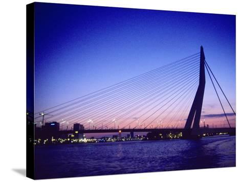 Erasmus Bridge, Erasmusbrug, Rotterdam-Barry Winiker-Stretched Canvas Print