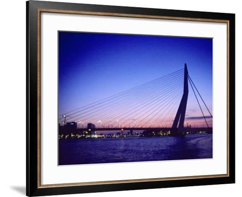 Erasmus Bridge, Erasmusbrug, Rotterdam-Barry Winiker-Framed Art Print