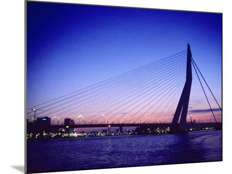 Erasmus Bridge, Erasmusbrug, Rotterdam-Barry Winiker-Mounted Photographic Print