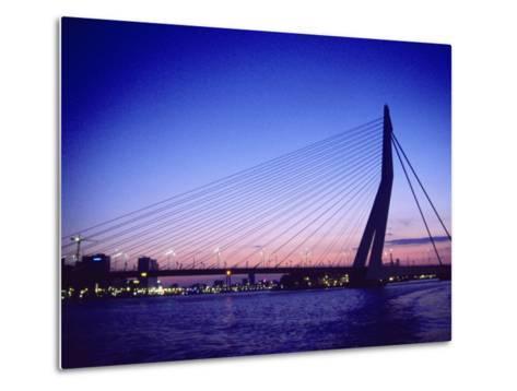Erasmus Bridge, Erasmusbrug, Rotterdam-Barry Winiker-Metal Print