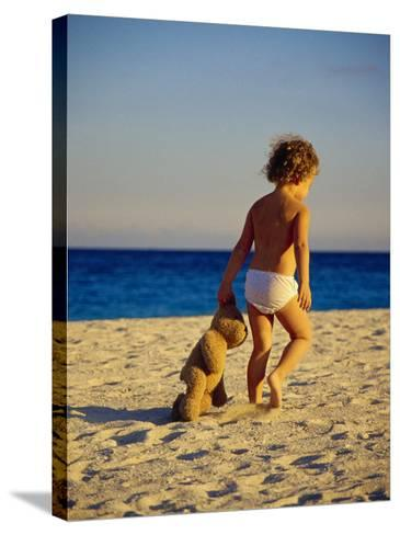Toddler on the Beach, Miami, FL-Robin Hill-Stretched Canvas Print
