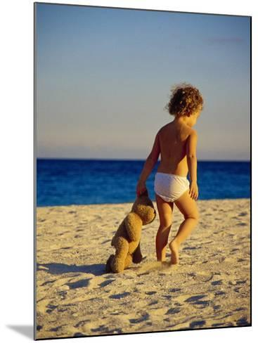 Toddler on the Beach, Miami, FL-Robin Hill-Mounted Photographic Print