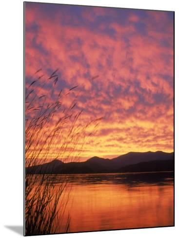 Sandpoint, Id, Sunset on Lake-Mark Gibson-Mounted Photographic Print