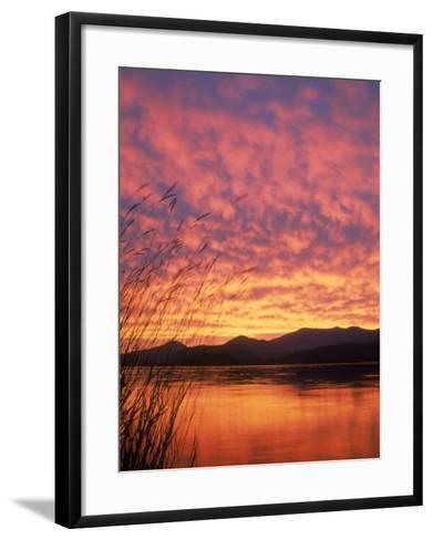 Sandpoint, Id, Sunset on Lake-Mark Gibson-Framed Art Print