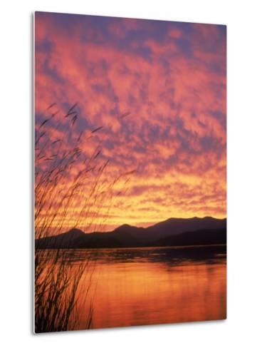 Sandpoint, Id, Sunset on Lake-Mark Gibson-Metal Print