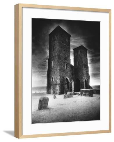 Reculver Towers and Roman Fort, Kent, England-Simon Marsden-Framed Art Print