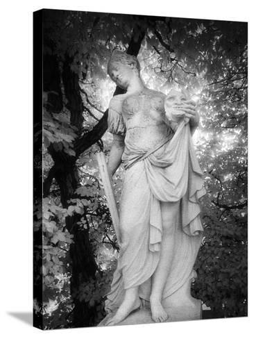Statue at Baroque Garden, Heidenau, Germany-Simon Marsden-Stretched Canvas Print