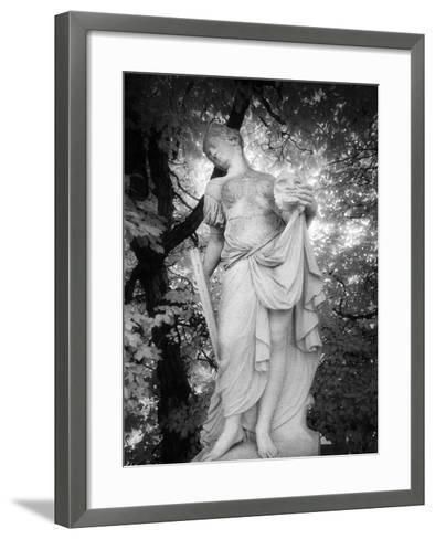 Statue at Baroque Garden, Heidenau, Germany-Simon Marsden-Framed Art Print