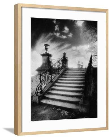 Steps, Chateau Vieux, Saint-Germain-En-Laye, Paris-Simon Marsden-Framed Art Print