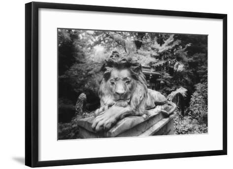 Lion Monument to Richard Charles Bostock, Abney Park Cemetery, London, England-Simon Marsden-Framed Art Print