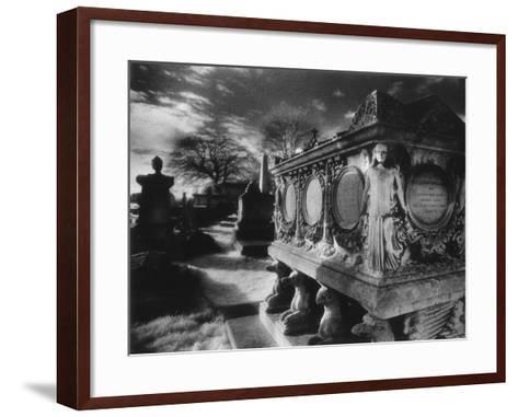 Tomb of William Holland, Kensal Green Cemetery, London, England-Simon Marsden-Framed Art Print