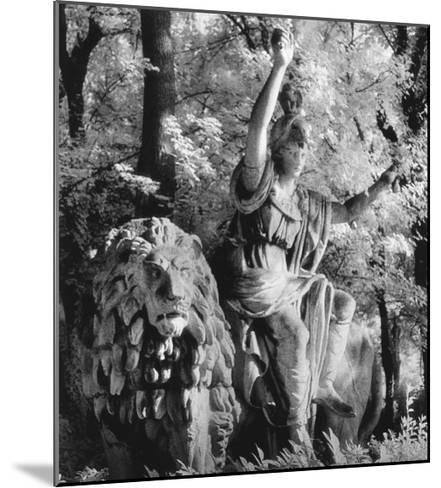Statue in the Giardini Pubblici, Castello-Simon Marsden-Mounted Giclee Print