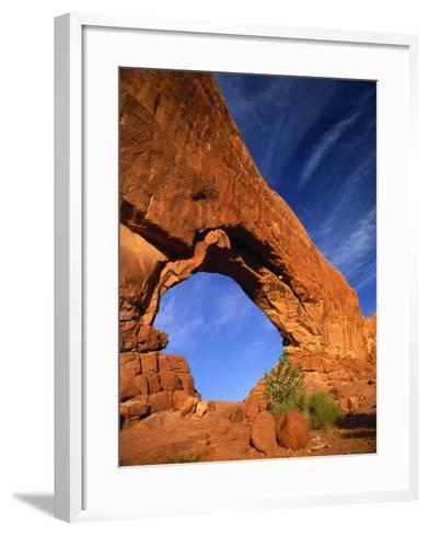 North Window Arch, Arches National Park, UT-Gary Conner-Framed Art Print