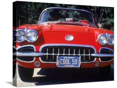 1959 Corvette Convertible-Jeff Greenberg-Stretched Canvas Print