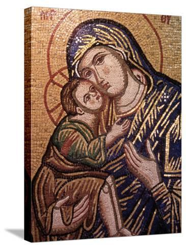 Madonna and Child Icon, Greece--Stretched Canvas Print