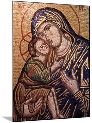 Madonna and Child Icon, Greece--Mounted Photographic Print