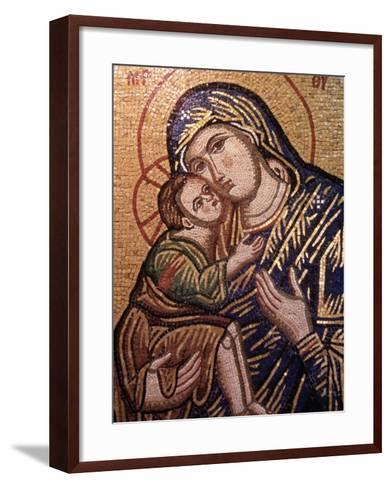 Madonna and Child Icon, Greece--Framed Art Print