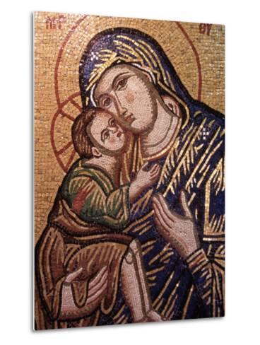 Madonna and Child Icon, Greece--Metal Print