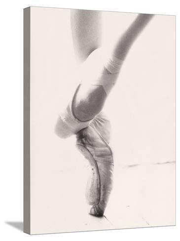 Close-up of Ballerina's Feet and Legs-John Glembin-Stretched Canvas Print