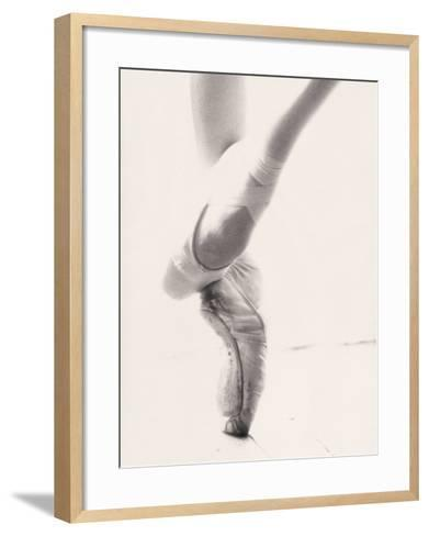 Close-up of Ballerina's Feet and Legs-John Glembin-Framed Art Print