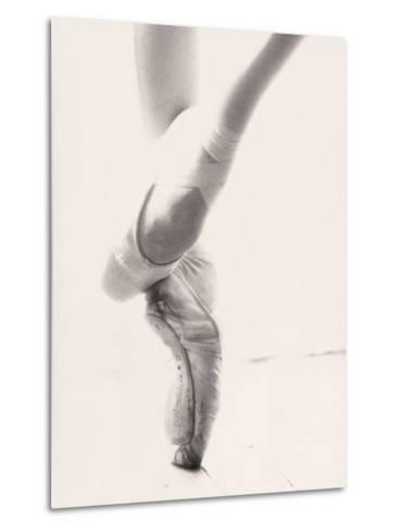 Close-up of Ballerina's Feet and Legs-John Glembin-Metal Print