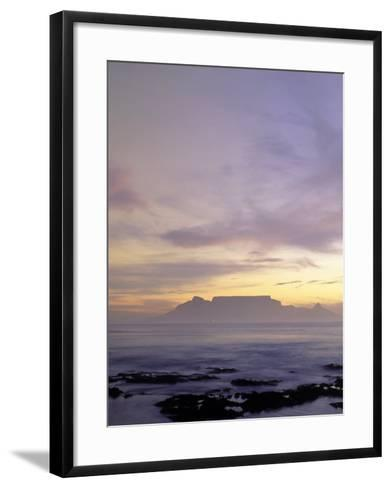 Table Mountain at Dusk, Cape Town, South Africa-Walter Bibikow-Framed Art Print