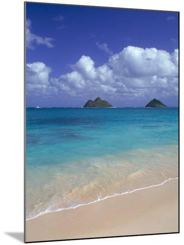 Cloud Filled Sky Over Blue Sea, Lanikai, Oahu, HI-Mitch Diamond-Mounted Photographic Print