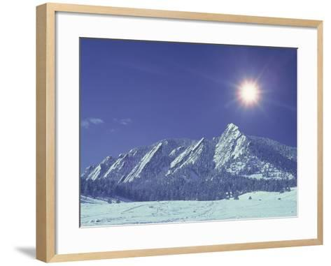 The Flatirons Near Boulder, CO, Winter-Chris Rogers-Framed Art Print