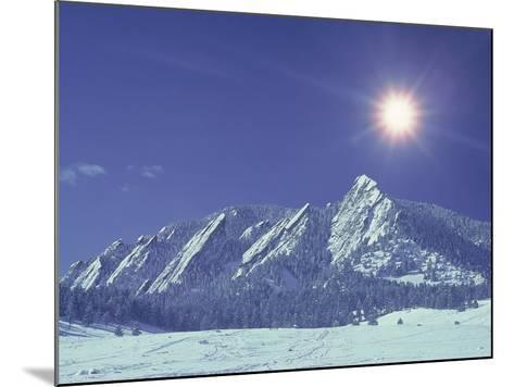 The Flatirons Near Boulder, CO, Winter-Chris Rogers-Mounted Photographic Print